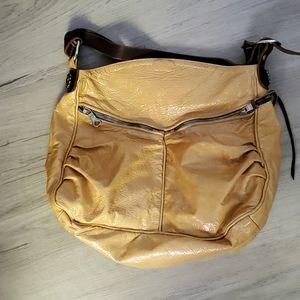 Tylie Malibu yellow patent leather bag